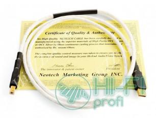 Кабель USB Neotech NEUB-1020-USB 2.0 A-B-UPOCC Silver-1 m