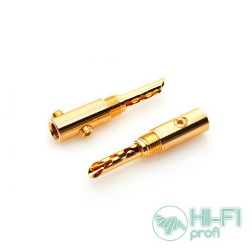 Разъемы для акустических кабелей TTAF 934051 Banana Gold, пара
