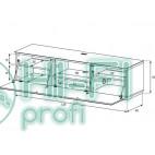 Тумба для ТВ Sonorous STA 160 белый корпус/фасад белое стекло фото 2