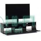 ТВ тумба с кронштейном Sonorous STA 161 черный корпус/фасад чёрное стекло фото 3