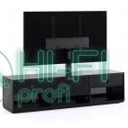 ТВ тумба с кронштейном Sonorous STA 161 черный корпус/фасад чёрное стекло фото 5