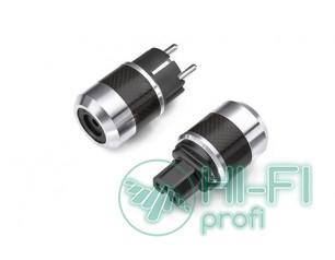 TTAF Carbon Schuko/IEC plug Rhodium, комплект