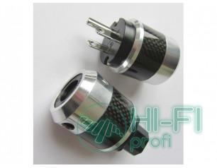 TTAF Carbon US plug/IEC plug Rhodium, комплект