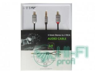 Кабель межблочный готовый TTAF NANO 3.5mm - 2 RCA Audio Cable 3m