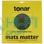 Мат из черной кожи для опорного диска винилового проигрывателя Tonar Black Leather Mat art.5978 фото 3