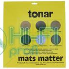 Мат из черной кожи для опорного диска винилового проигрывателя Tonar Black Leather Mat art.5978 фото 2