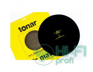 Мат из черной кожи для опорного диска винилового проигрывателя Tonar Black Leath..