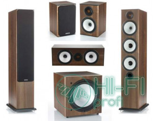 Комплект акустики 5.1 Monitor Audio BX6 walnut + сабвуфер BXW10