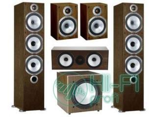 Комплект акустики 5.1 Monitor Audio MR6 + сабвуфер MRW-10 walnut
