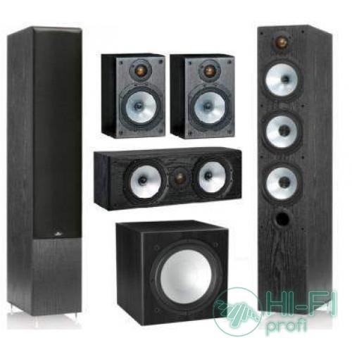 Комплект акустики 5.1 Monitor Audio MR6 + сабвуфер MRW-10 black