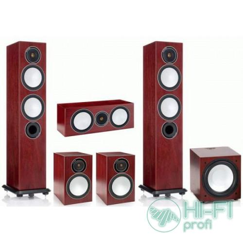 Комплект акустики 5.1 Monitor Audio Silver 6 + сабвуфер Silver W12 Rosemah