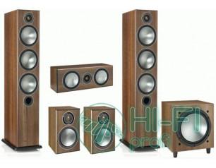 Комплект акустики 5.1 Monitor Audio Bronze 6 + сабвуфер Bronze W10 walnut