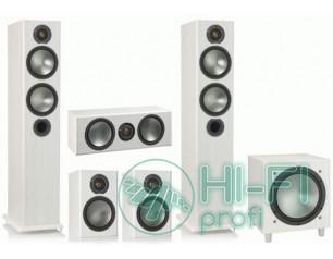 Комплект акустики 5.1 Monitor Audio Bronze 5 + сабвуфер Bronze W10 white