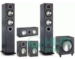 Комплект акустики 5.1 Monitor Audio Bronze 5 + сабвуфер Bronze W10 black