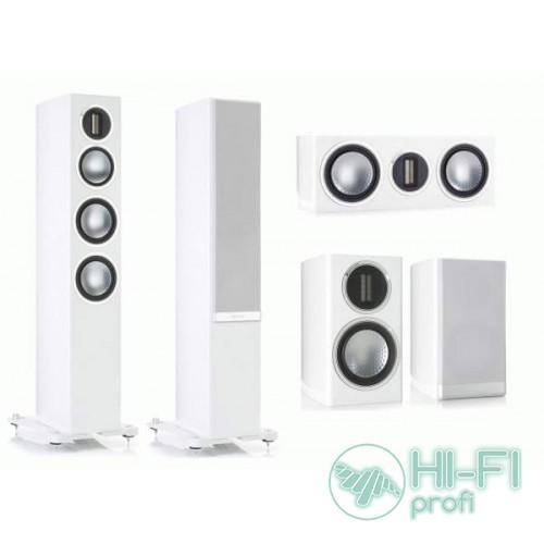 Комплект акустики 5.0 Monitor Audio GOLD 200 Piano White