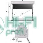 Экран моторизированный Экран Adeo моториз. с боковыми растяжками Alumid tensio Reference White 414x233, формат экрана 16:9, ed.30cm фото 2