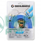 Кабель межблочный готовый Oehlbach 2703 BEAT! Stereo blue 3,0m фото 2