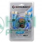 Кабель міжблочний готовий Oehlbach 2701 BEAT! Stereo blue 1,0m фото 2