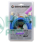Кабель сабвуферный Oehlbach 22702 BOOOM! Y-Adapter cable 2,00m blue фото 2
