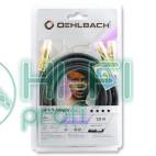 Кабель сабвуферный Oehlbach 20574 NF 1 Y adaptor Cinch-2Cinch 4,00m black фото 2