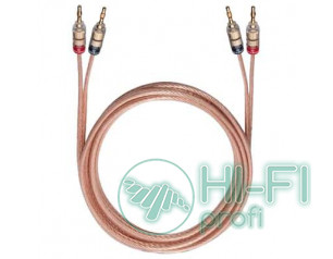 Кабель акустический готовый Oehlbach 10785 Crystal Wire B60 2x6mm Banana Solu 3,..