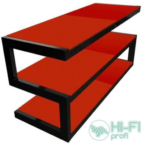 Подставка для AV аппаратуры NORSTONE Esse black-red