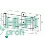 Подставка для AV аппаратуры Sonorous PL 3400-B-HBLK фото 2