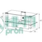 Подставка для AV аппаратуры Sonorous PL 3415-B-HBLK фото 2