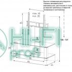 Подставка для AV аппаратуры Sonorous PL 2495-B-HBLK фото 2