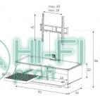 Подставка для AV аппаратуры Sonorous MD 8095-C-INX-WHT фото 2