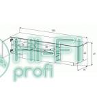 Подставка для AV аппаратуры Sonorous LBA 1830-GBLK фото 3