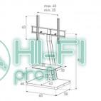 Подставка для AV аппаратуры Sonorous PL 2710-BLK-SLV фото 2
