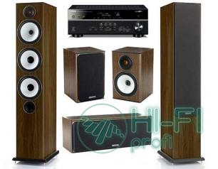 Домашний кинотеатр Акустика 5.0 Monitor Audio BX6 walnut + AV-ресивер Yamaha RX-..