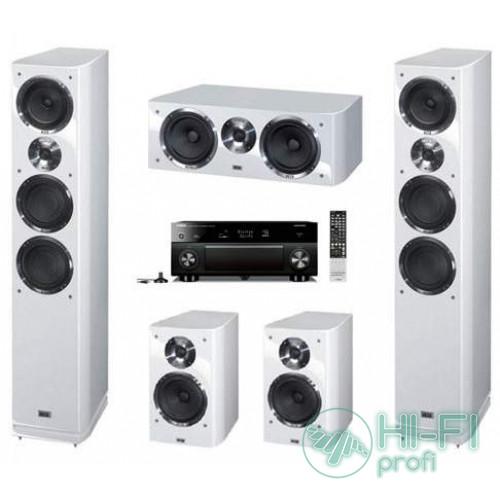 Домашний кинотеатр Акустика 5.0 HECO Celan GT 702 HG white + АV-ресивер Yamaha Aventage RX-A1040