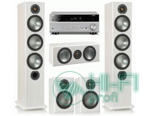 Домашній кінотеатр Monitor Audio Bronze 6 white + Yamaha RX-V479