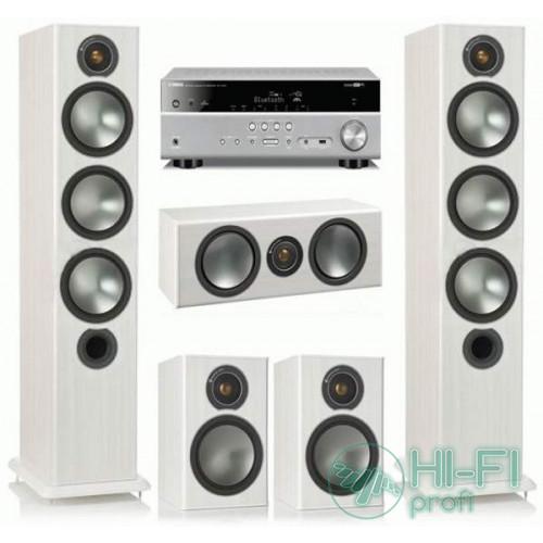 Домашний кинотеатр Monitor Audio Bronze 6 white + Yamaha RX-V479