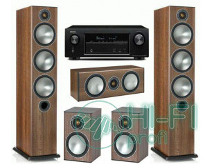 Домашний кинотеатр Monitor Audio Bronze 6 walnut + Denon AVR-X1200