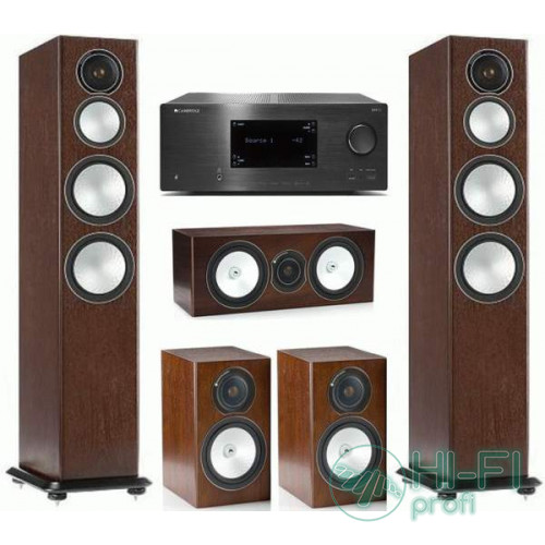 Домашний кинотеатр 5.0 Monitor Audio Silver 8 + AV-ресивер Cambridge Audio CXR120