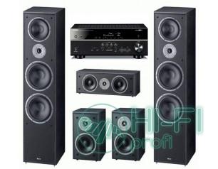 Домашний кинотеатр 5.0 Magnat Monitor Supreme 2002 set + AV-ресивер Yamaha RX-V481 (Magnat2002b,Magnat202b,Magnat252b,AVRX500)