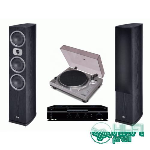 Стерео комплект Винил Sherwood PM-9805 + Sherwood AX-5505 + Heco Victa Prime 702