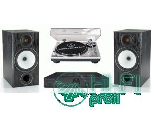 Стерео комплект Винил Audio-Technica AT-LP120USB + усилитель Denon PMA-520 + Monitor Audio Bronze 2
