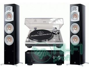 Стерео комплект Винил Audio-Technica AT-LP120USB + Yamaha A-S300 + Yamaha 555