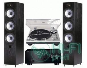 Стерео комплект Винил Audio-Technica AT-LP120USB + Yamaha A-S300 + Monitor Audio MR6