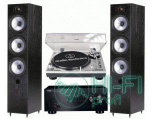 Стерео комплект Винил Audio-Technica AT-LP120USB + Yamaha A-S300 + Monitor Audio..