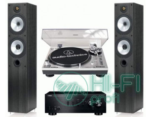 Стерео комплект Винил Audio-Technica AT-LP120USB + Yamaha A-S300 + Monitor Audio..