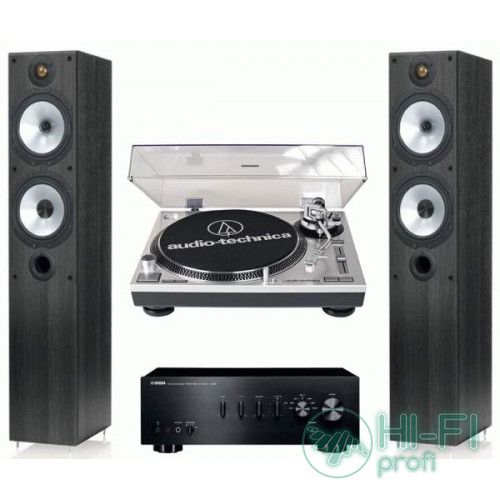 Стерео комплект Винил Audio-Technica AT-LP120USB + Yamaha A-S300 + Monitor Audio MR4