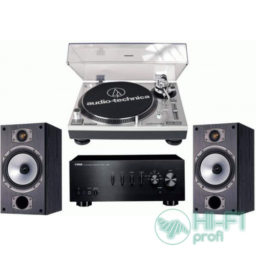 Стерео комплект Винил Audio-Technica AT-LP120USB + Yamaha A-S300 + Monitor Audio MR2