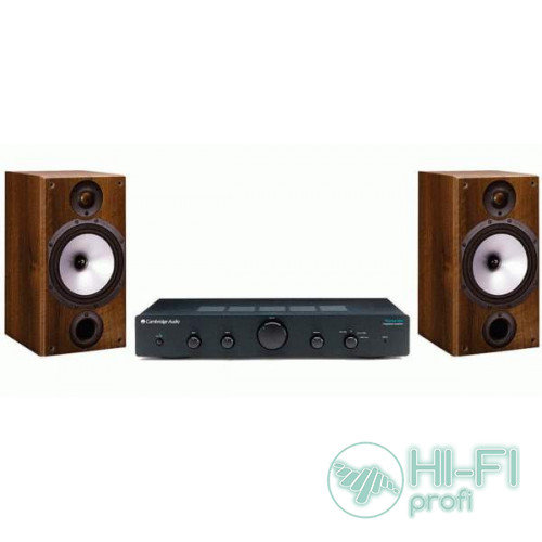 Стерео комплект Усилитель Cambridge Audio Topaz AM5 + MONITOR AUDIO Monitor Reference 2 Walnut