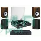 Стерео комплект Винил Audio-Technica AT-LP60 Bluetooth + Topaz AM5 + MONITOR AUDIO Monitor Reference 1 Black/Walnut фото 2