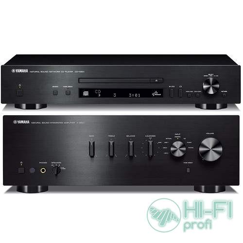 Стерео комплект Yamaha A-S501 Black + Yamaha CD-N301 Black (n-A-S500b,CD-N500b)